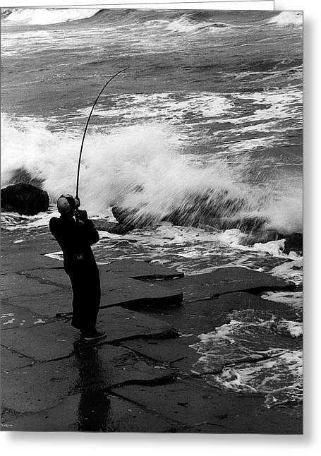 Greeting Card featuring the photograph Storm Fishing by Travis Burgess