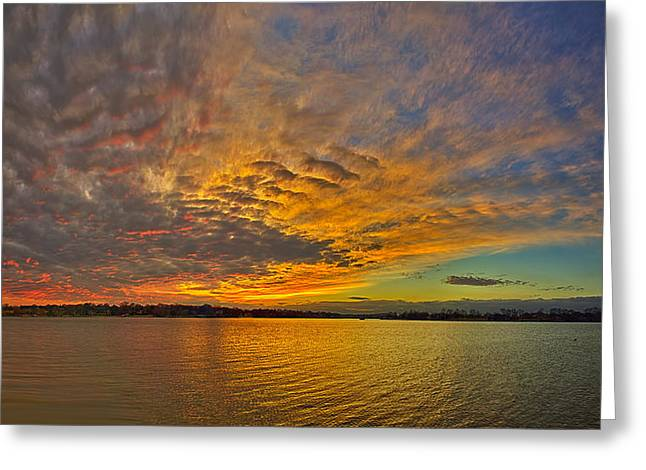 Storm Front Sunset II Greeting Card by Dan Holland