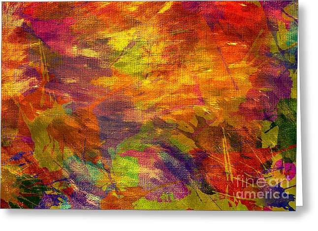 Storm In A Paint Pot Greeting Card by Kaye Menner