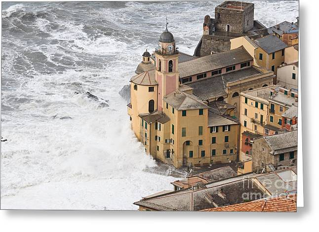 Storm In Camogli Greeting Card by Antonio Scarpi