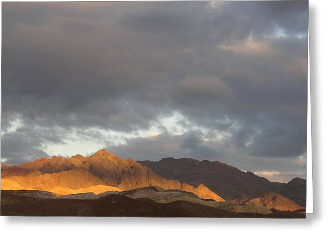 Storm In The Desert Greeting Card by Jenny Fish