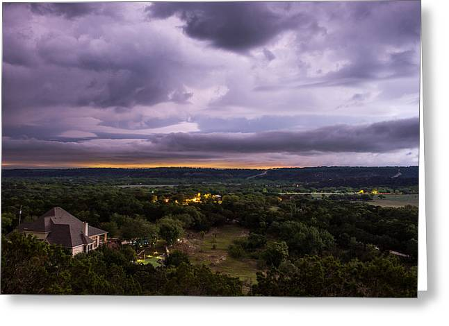 Storm In The Valley Greeting Card by Darryl Dalton