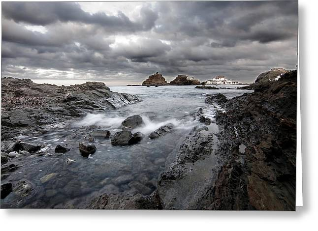 Storm Is Coming To Island Of Menorca From North Coast And Mediterranean Seems Ready To Show Power Greeting Card by Pedro Cardona