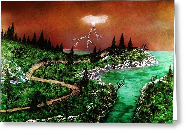 Greeting Card featuring the painting Storm by Michael Rucker