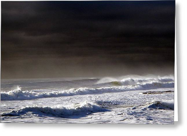 Storm Moving Out To Sea Greeting Card by Anastasia Pleasant