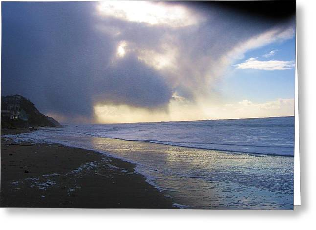 Storm On Beach Greeting Card