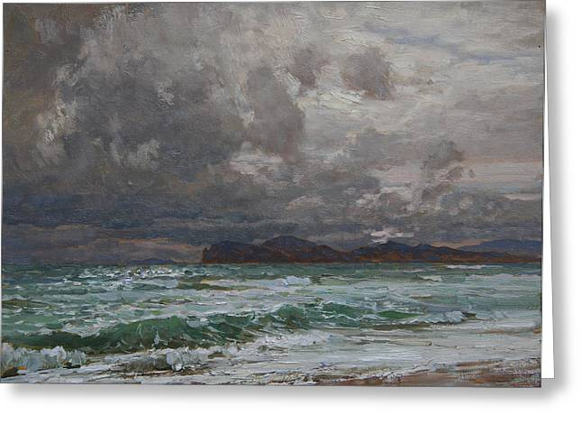 Storm On Black Sea Greeting Card by Korobkin Anatoly