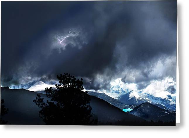 Storm On Long's Peak Greeting Card by Ric Soulen