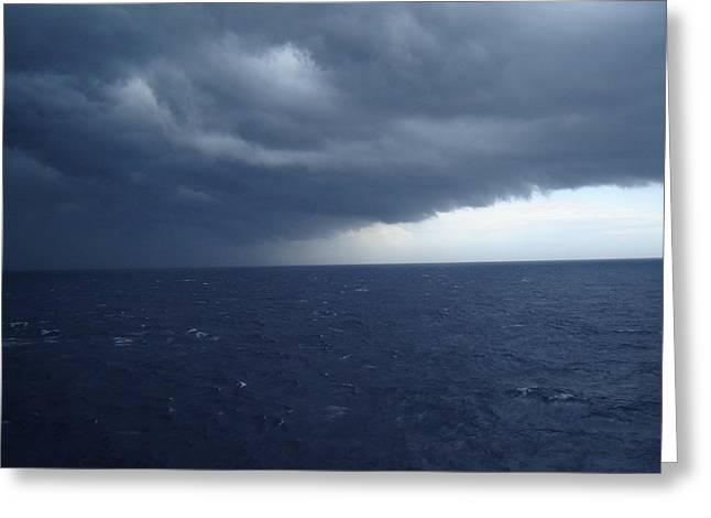 Storm On Ocean Horizon Greeting Card