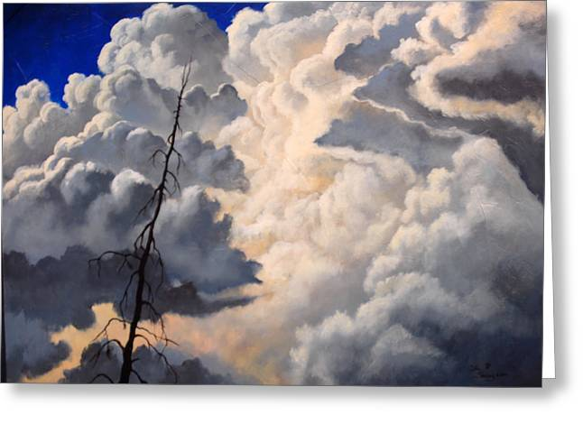 Storm On The Hoback Greeting Card