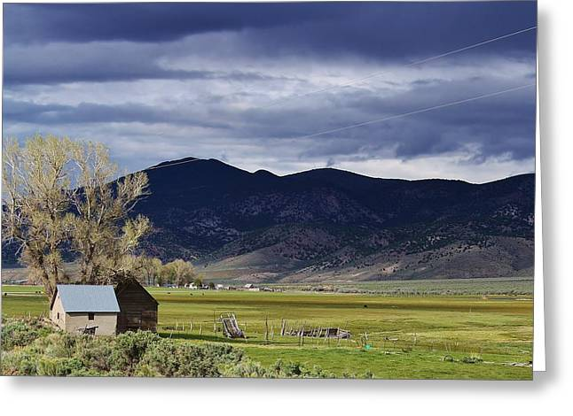 Storm On The Horizon Greeting Card by Bruce Bley