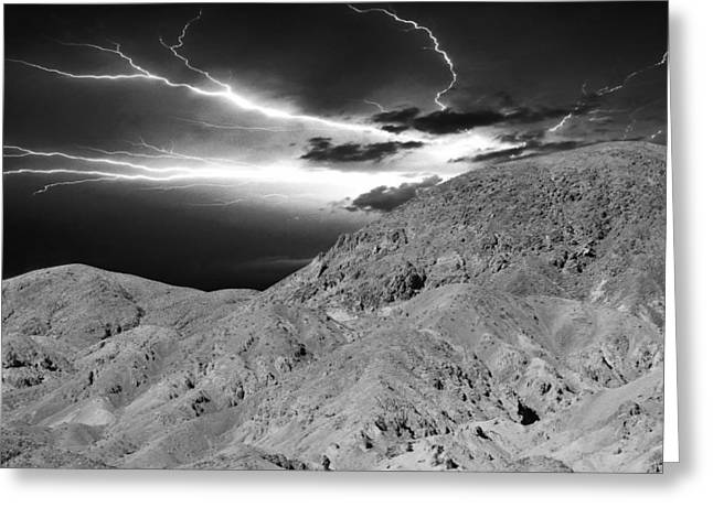 Storm On The Mountain Greeting Card by Athala Carole Bruckner