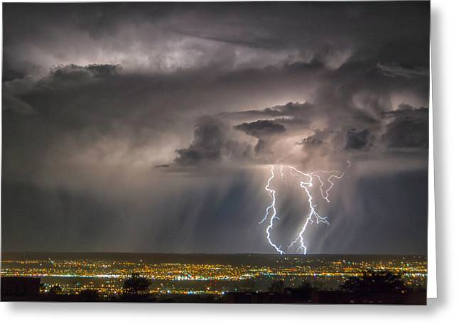 Storm Over Albuquerque Greeting Card