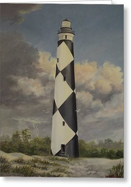 Storm Over Cape Fear Greeting Card by Wanda Dansereau