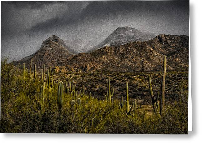 Storm Over Catalinas Aso Greeting Card