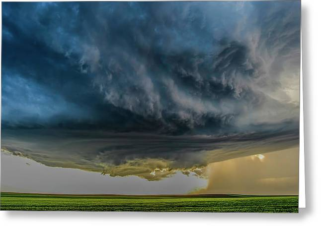 Storm Over Greenfield Greeting Card