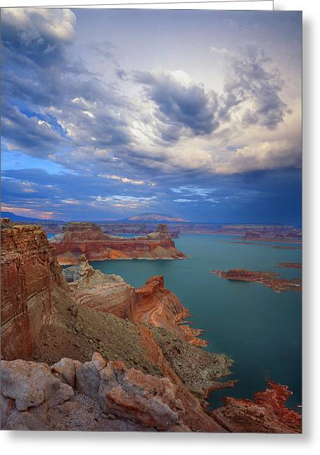 Storm Over Lake Powell Greeting Card by Ray Mathis