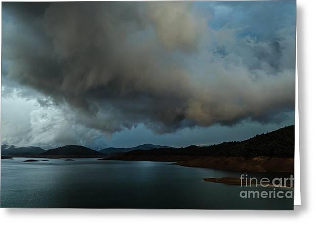 Storm Over Lake Shasta Greeting Card
