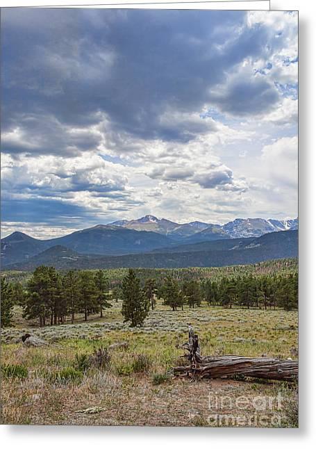 Storm Over Longs Peak Greeting Card by Kay Pickens
