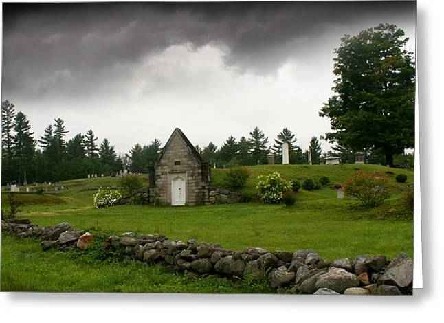 Storm Over Maine Greeting Card