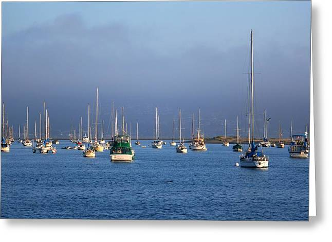 Storm Over Morro Bay Greeting Card by Veronica Vandenburg
