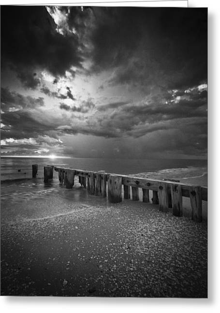 Storm Over Naples Florida Beach Greeting Card