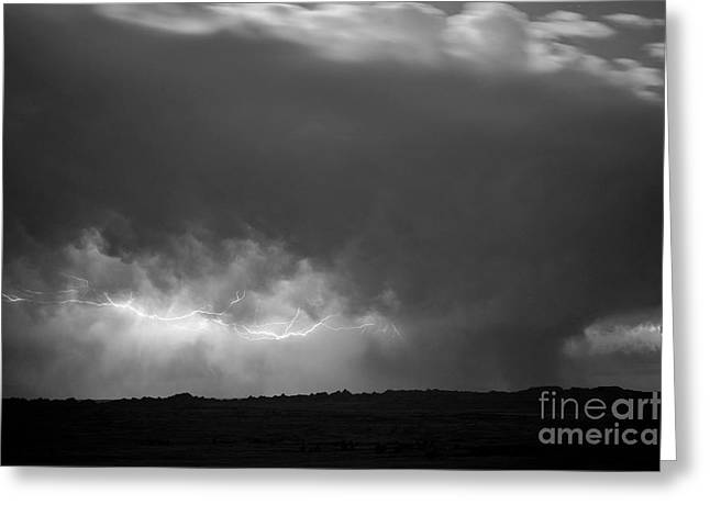 Storm Over Pine Ridge Greeting Card by Chris Brewington Photography LLC