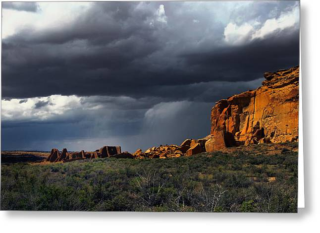 Storm Over Pueblo Bonito Greeting Card
