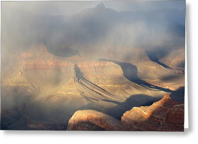 Storm Over The Grand Canyon Greeting Card