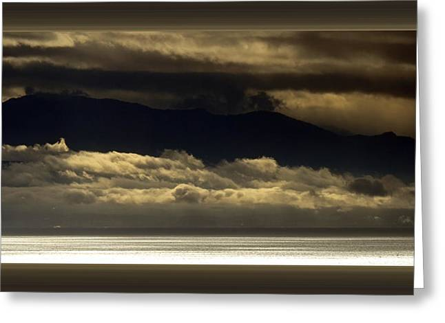 Storm Over The Mountains Greeting Card