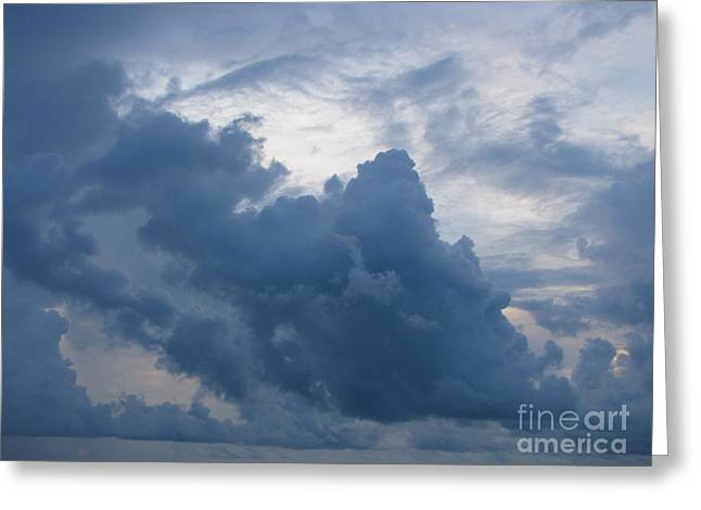 Storm Over The Ocean Greeting Card by Gayle Melges