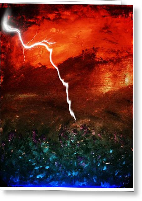 Storm Over Umbria Greeting Card