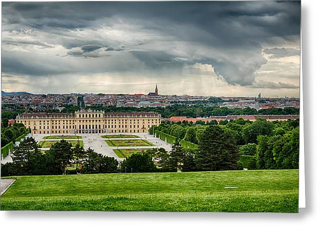 Storm Over Vienna Greeting Card by Viacheslav Savitskiy