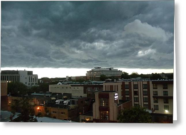 Greeting Card featuring the photograph Storm Over West Chester by Ed Sweeney
