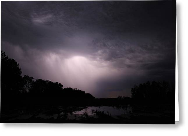 Storm Over Wroxton Greeting Card