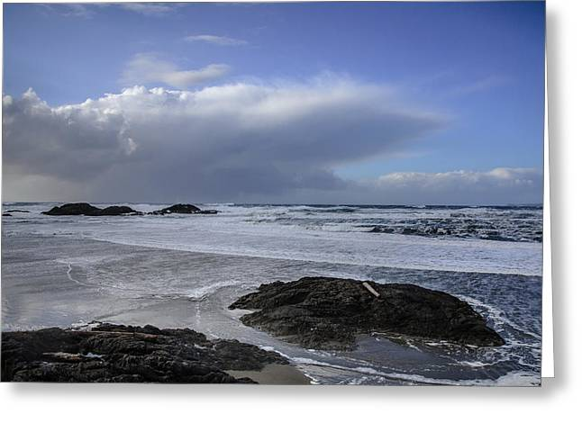 Storm Rolling In Wickaninnish Beach Greeting Card