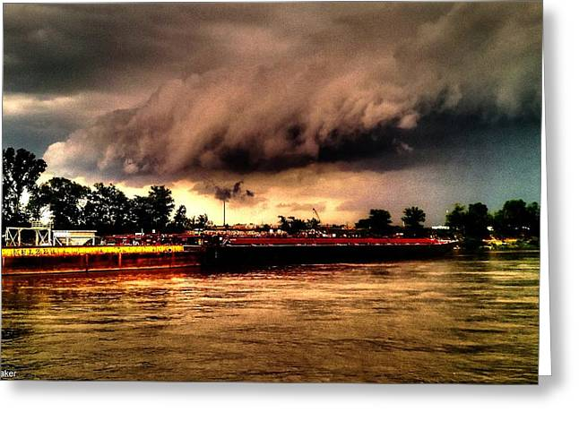 Storm Rolling In Greeting Card by Cory Shoemaker
