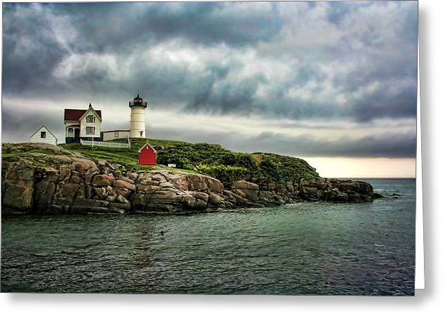 Storm Rolling In Greeting Card by Heather Applegate