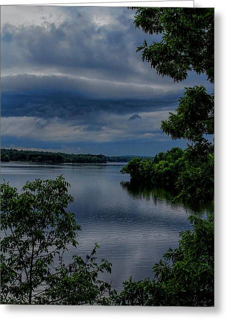 Storm Rolling Over Lake Wausau Greeting Card
