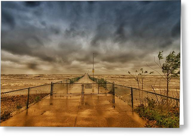 Storm Sandy At Bradstreet Landing Greeting Card