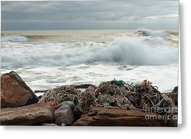 Storm Surf At Rye Beach Greeting Card