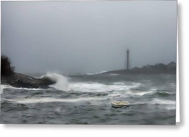 Storm Surge At Marblehead Greeting Card