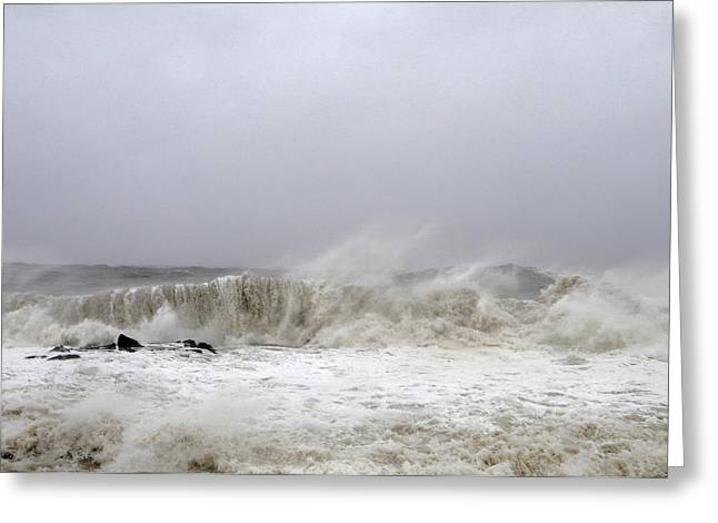 Storm Surge Greeting Card by JoAnn Lense