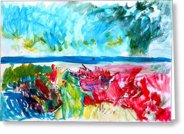 Storm The Coast Greeting Card by Konstantin  Dimitrov