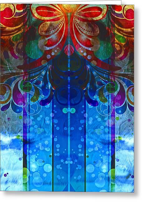 Storm Through The Window - Abstract  Greeting Card by Georgiana Romanovna