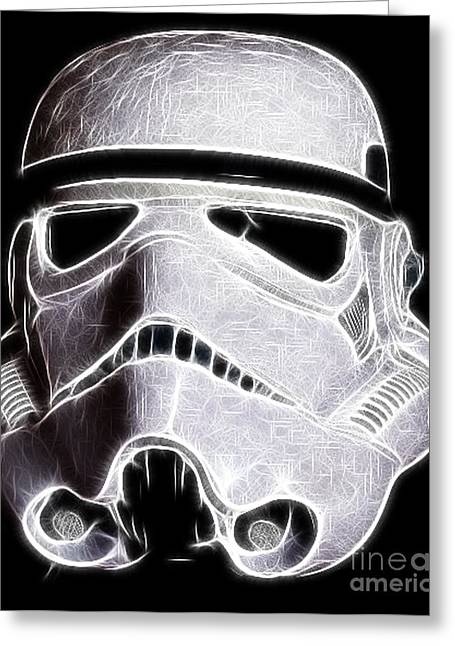 Storm Trooper Helmet Greeting Card by Paul Ward