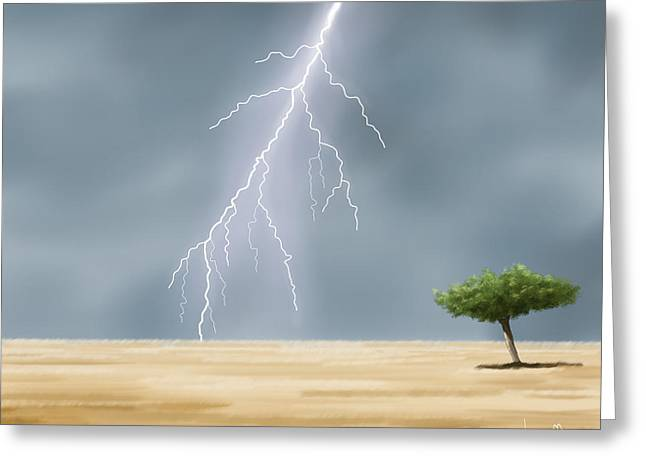 Storm Greeting Card by Veronica Minozzi