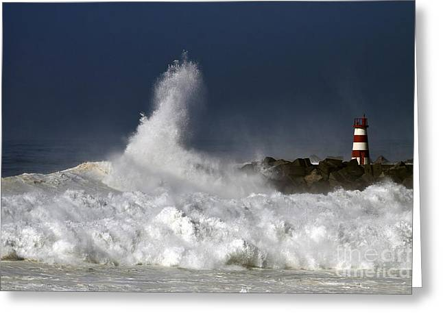 Storm Waves Greeting Card by Boon Mee