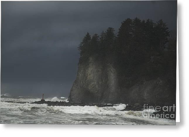 Storm At Lapush Washington State Greeting Card
