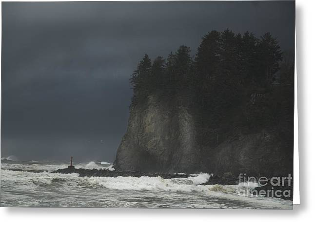 Storm At Lapush Washington State Greeting Card